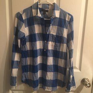 J Crew fashion plaid shirt